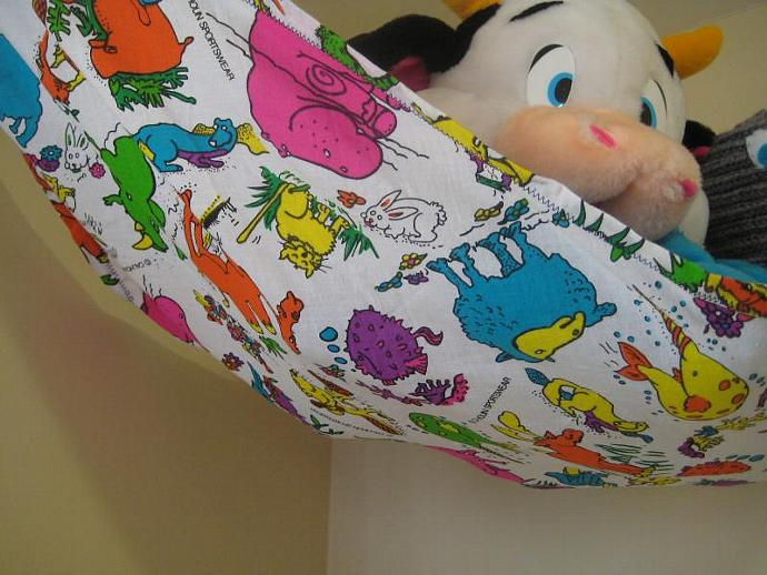 Neon Animals Toy Hammock - Teddy Bed - Size Medium
