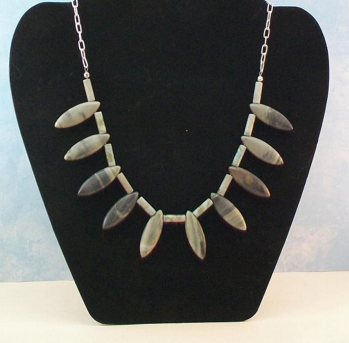 Neptune Jasper Beaded Necklace & Earrings Set