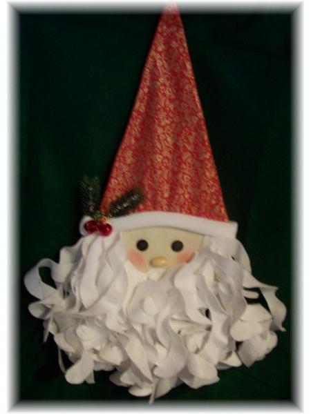 Handcrafted Santa Door Decoration