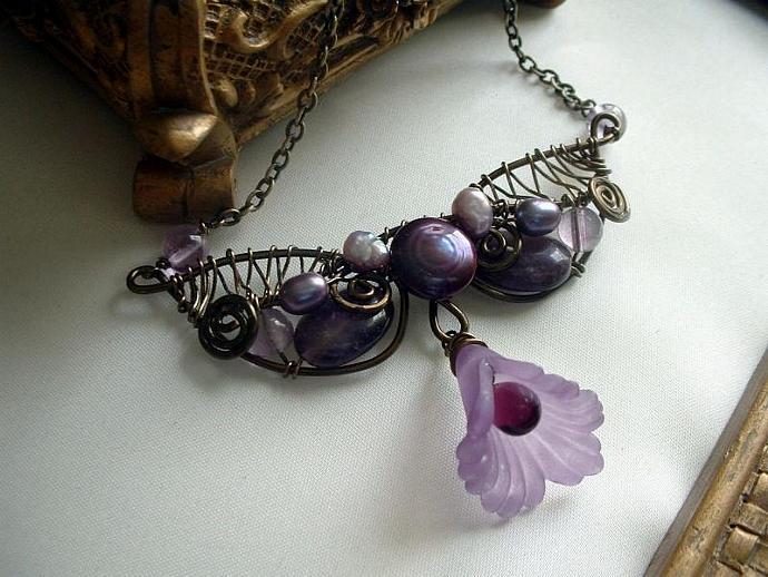 Amethyst Fantasy Wrap Necklace