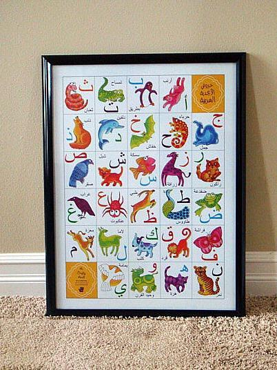 Arabic Alphabet Animal Poster