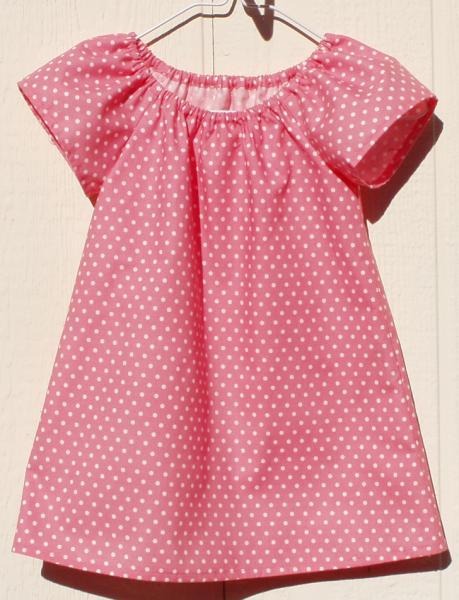 Salmon Peasant Dress Size 6 Months