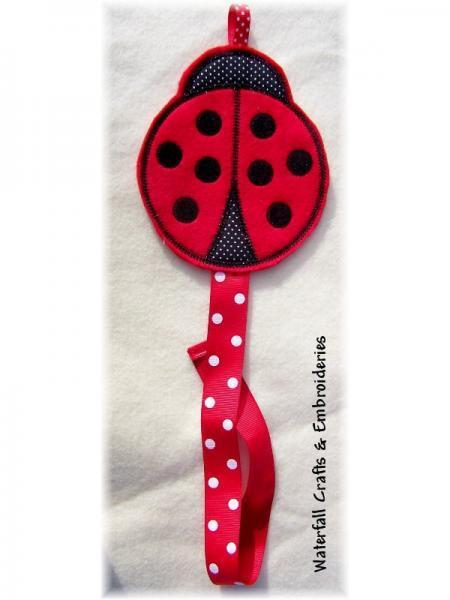 Felt Ladybug handcrafted Barrette Holder
