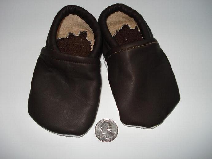 PU Leather shoes - Brown