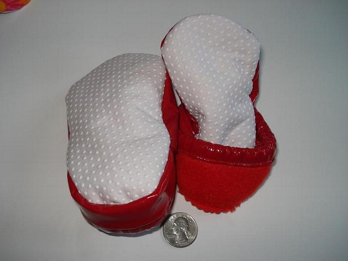 Pleather shoes - Shiny Red