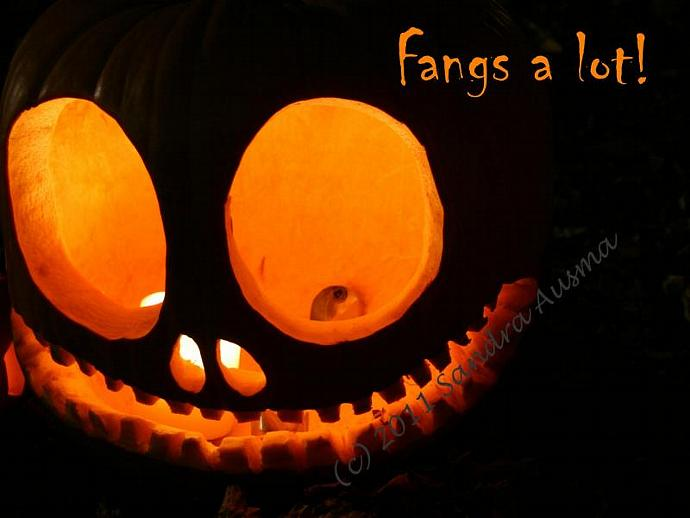 Fangs a Lot - Halloween Thank you | SandrasCardandCraftShop