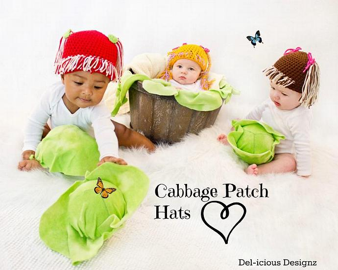Cabbage Patch - Crochet Baby Hat