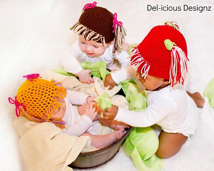 Cabbage Patch - Crochet Baby Hat MADE TO ORDER