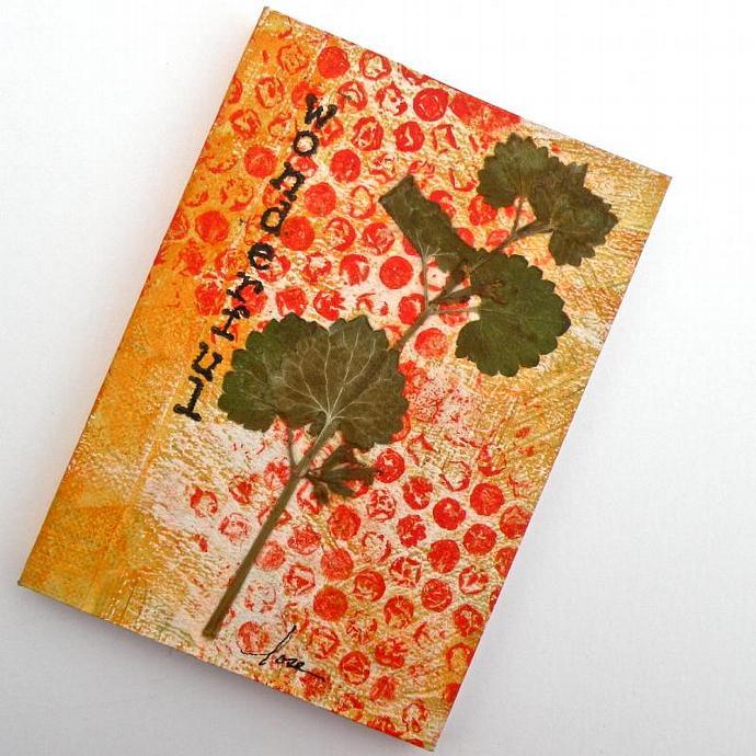 """Wonderful"" Mixed Media Mini Journal"