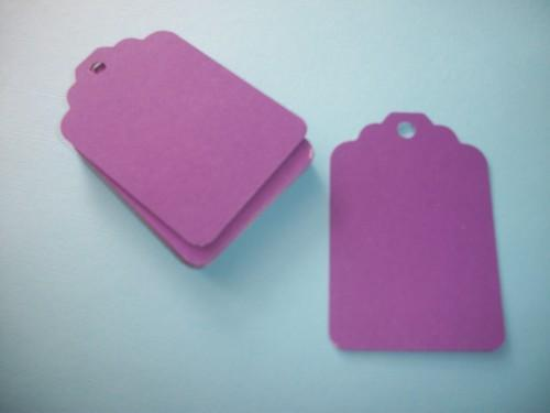 30ct Purple hang Tags / DIY projects / 3x2