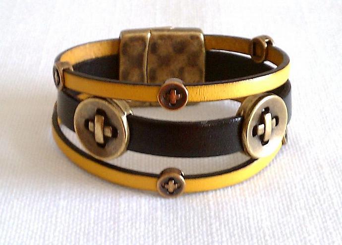 Euro Italian Leather Bracelet, Item #441