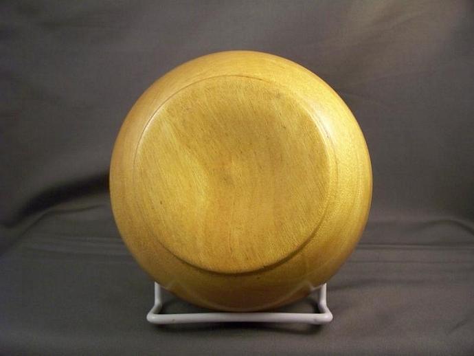 Petite Yellow Heart Wood Bowl