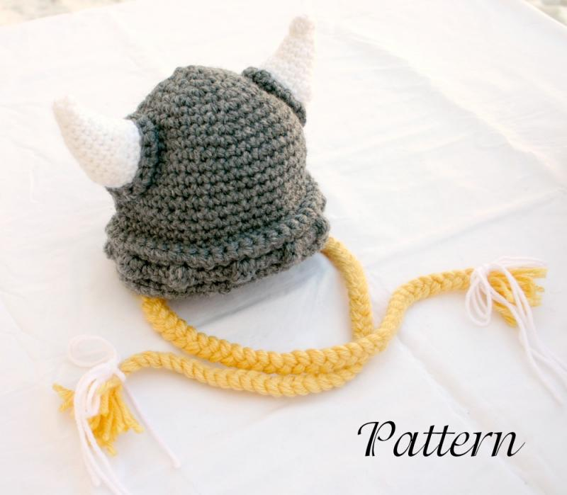 Baby Knitted Viking Hat Viking Baby Hat Pdf Crochet