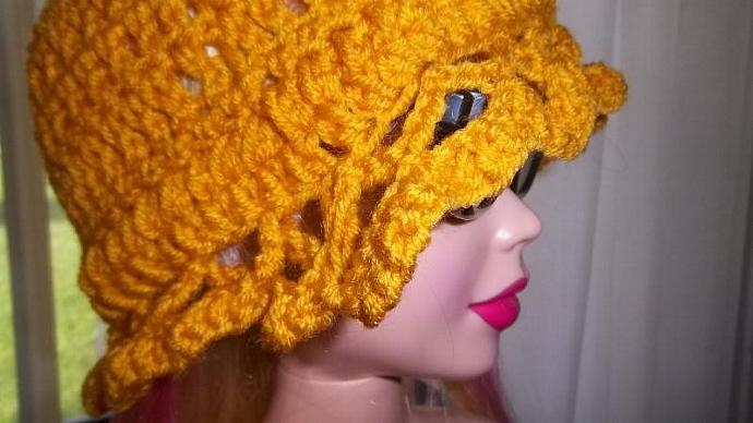Womens'  Laced Brim Sunflower Hat