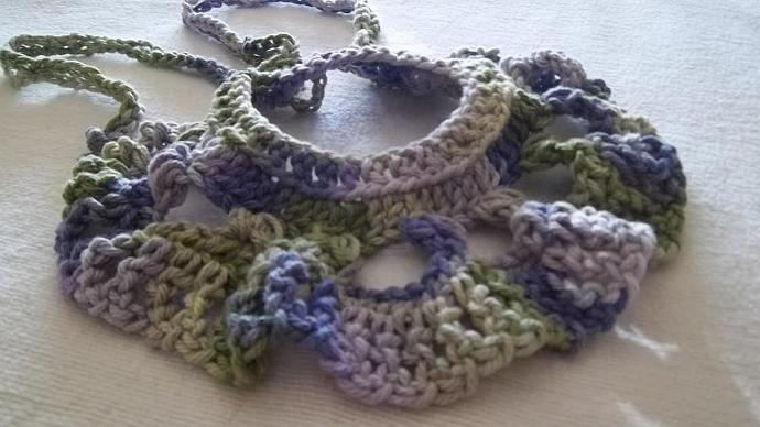 Cotton Crocheted Necklace With Adjustable Straps