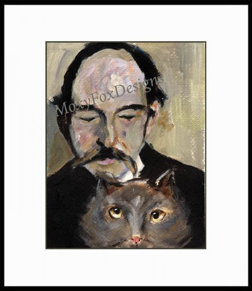 Art -- Thomas Hardys Irreverent Cat, Cats Weird,  Giclee Print  FREE US