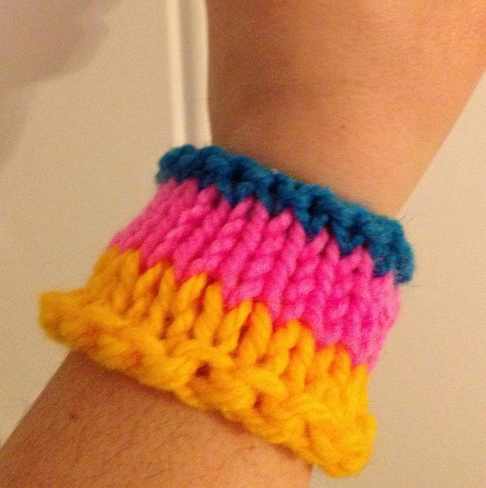 Bright Stripes CuppaJoe Cozy / Wrist Wrap