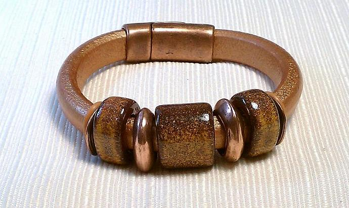 Regaliz Greek Leather Bracelet, Item #460