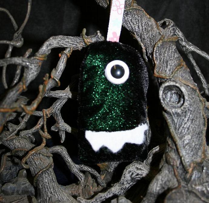 Plush Green Monster Keychain