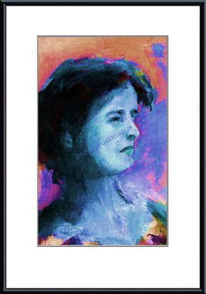 Art – Portrait IRISH GIRL Lady Fine Art Giclee Print Free US Shipping