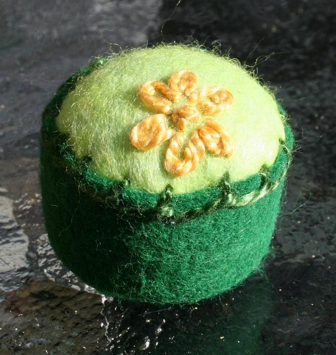 Spring Flower Bottlecap Pincushion