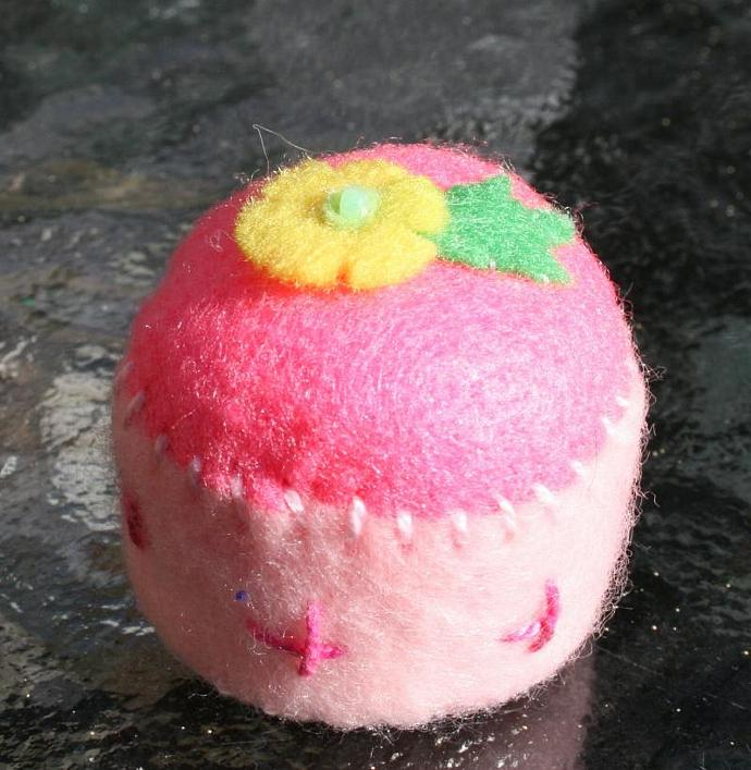 Bright Flower Bottlecap Pincushion