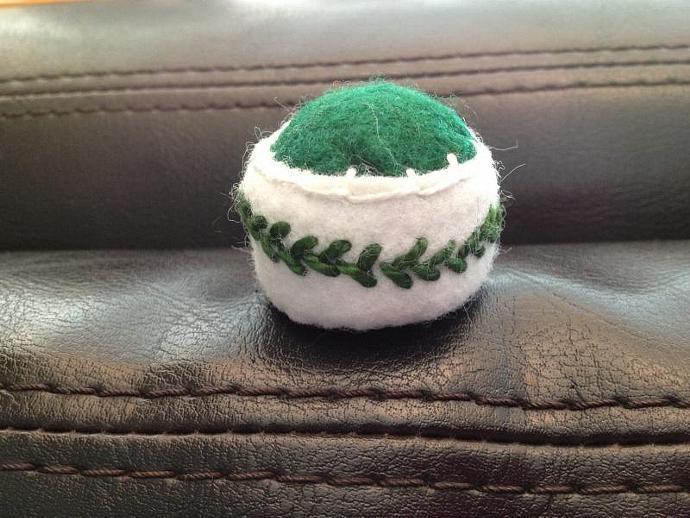 Vine-Wrapped Bottlecap Pincushion