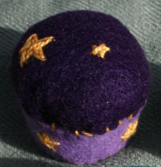 Royal Stars Bottlecap Pincushion