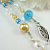Turquoise and Gold Jesus Beaded Bookmark