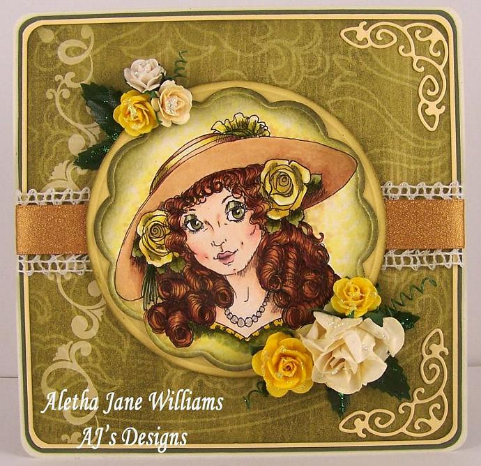 The Yellow Hat handmade blank greeting card