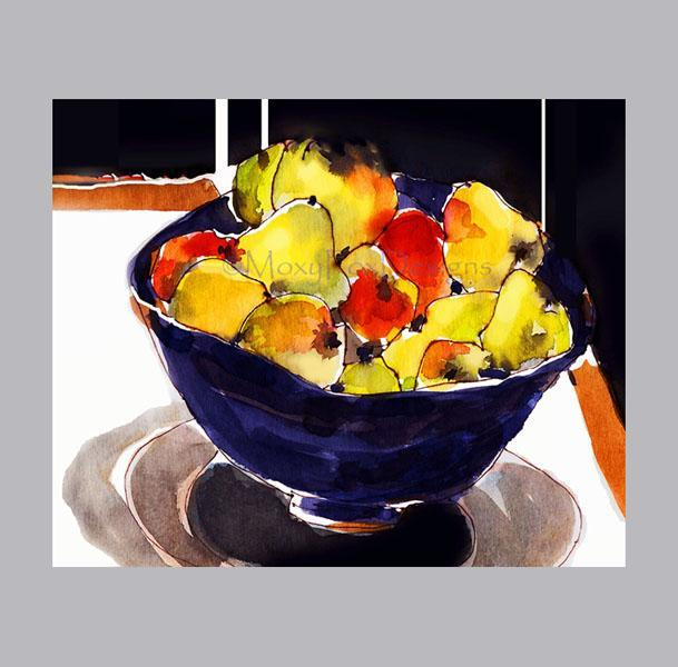 Art -- WINTER FRUIT Bowl  Limited Edition Free US Shipping