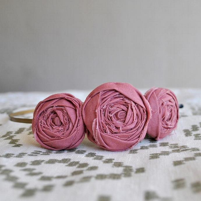 The Sweetness Headband - Vintage Pink