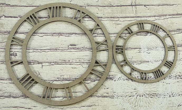 Chipboard Roman clocks