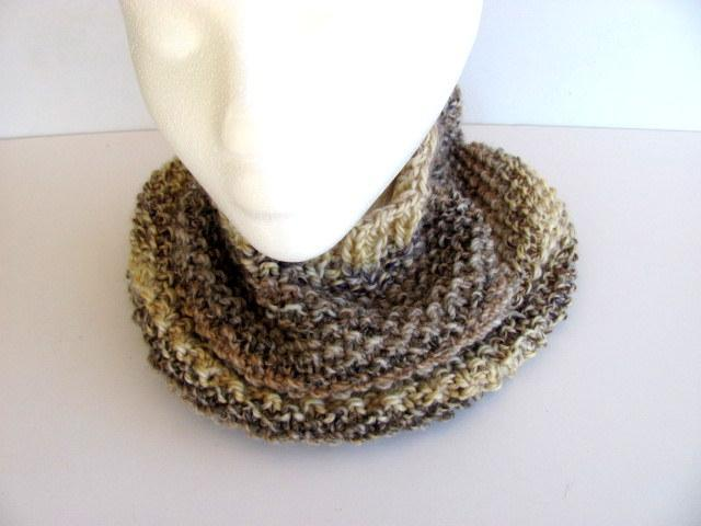 Heathered Stripe Cowl FREE US Shipping