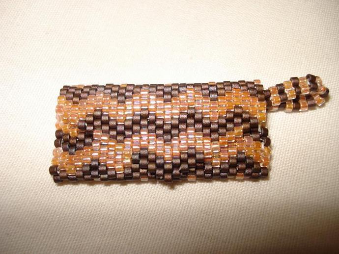 Bead Mini Clutch Pendant - Chevron