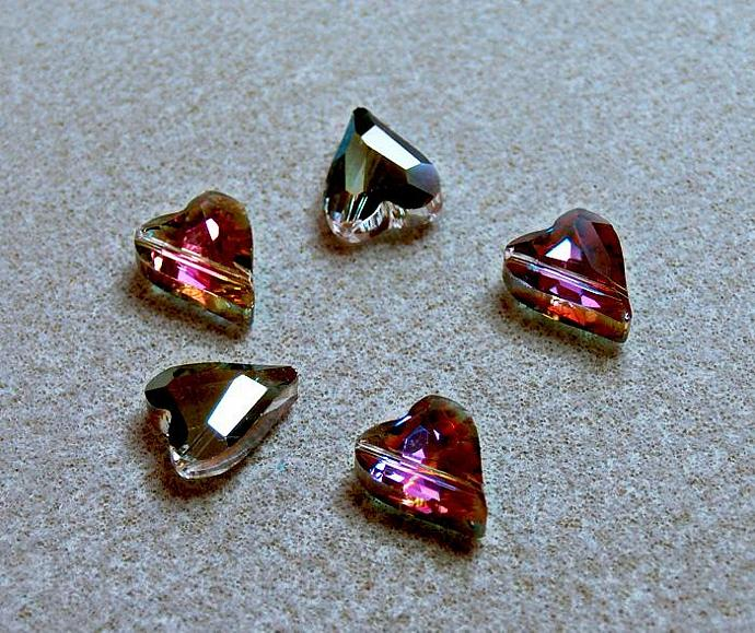 Heart of the Sahara- faceted crystal beads