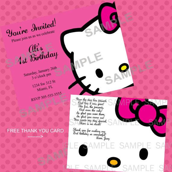 Hello Kitty Printable Birthday Party – Hello Kitty Printable Birthday Card
