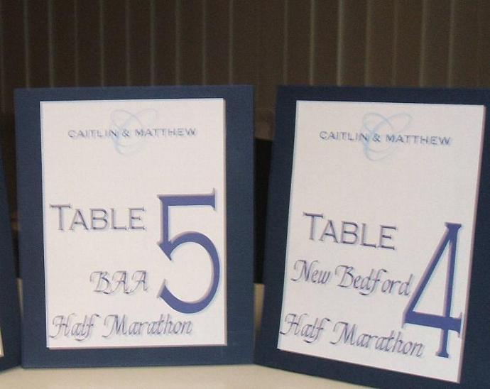 Custom Wedding Reception Items- 100 escort cards,