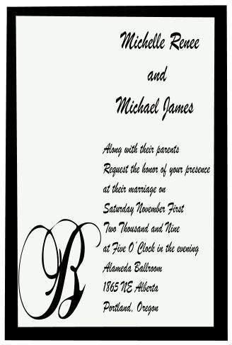 Modern Graphic Wedding invitation