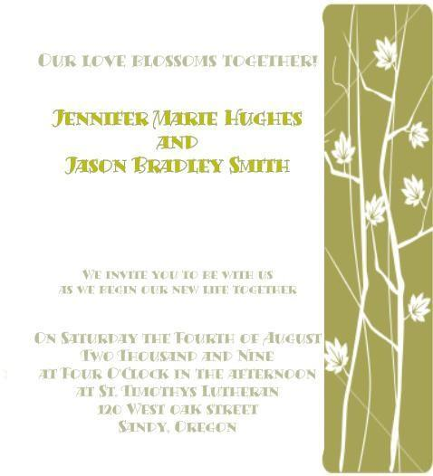 Graphic Spring / Fall wedding invite set