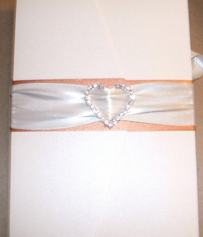 Custo Pocketfold Wedding Invitation suite with cry