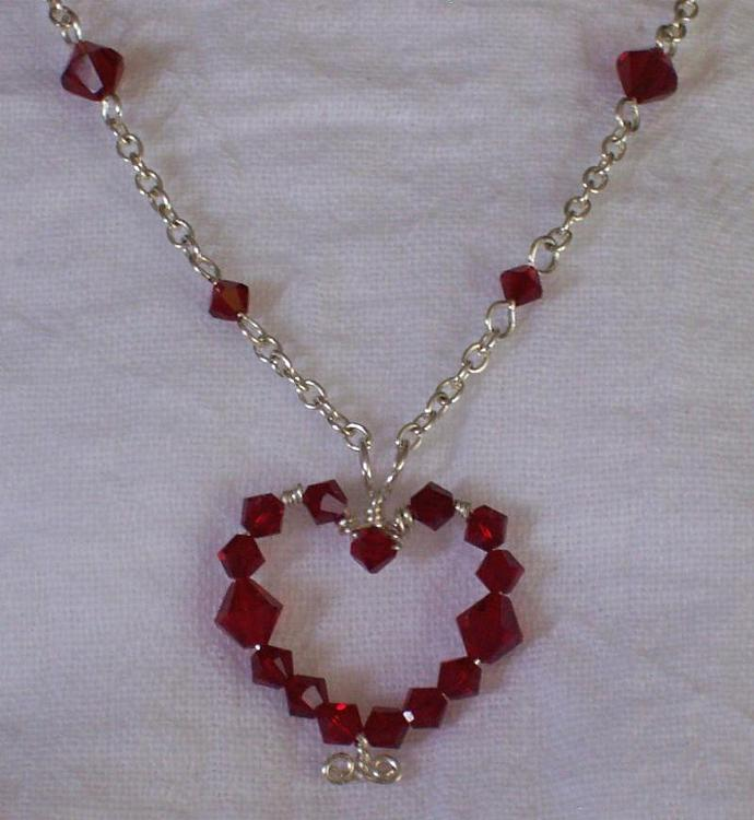 Made-to-Order Swarovski Crystal Heart Pendant Necklace
