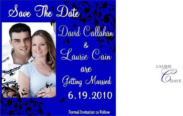 Customizable Photo Save the date- modern fun desig