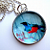 Red Breasted Bluebird - A Little Bubble Pendant