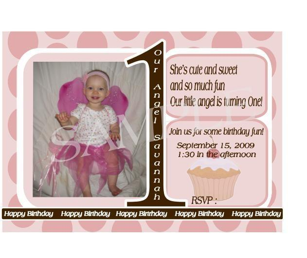 Personalized Photo Childrens Birthday Invitation-