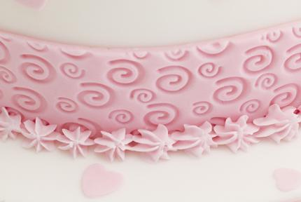 Spiral Swril Textured Rolling Pin