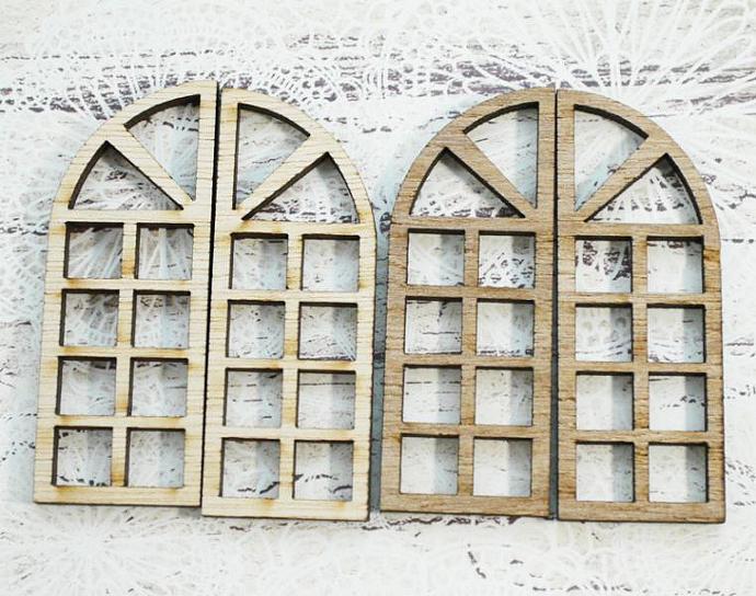 Wooden  windows-4 pieces