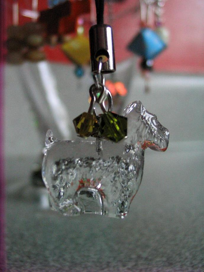 Swarovski VINTAGE Crystal Pendant, 20mm Scottie Do