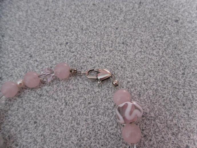 Her Pink Heart Bracelet-SALE