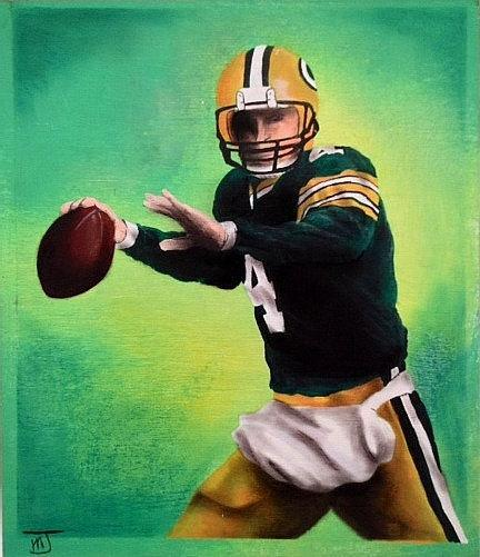 B 4 Betrayal, original artwork of Favre when he was faithful to the Green Bay